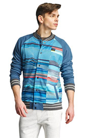JUST RHYSE Bell Springs College Jacket Turquoise at oboy.com