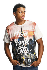 JUST RHYSE New York City T-Shirt Off White at oboy.com