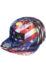 JUST RHYSE Stars Stripes Snapback Cap Colored at oboy.com