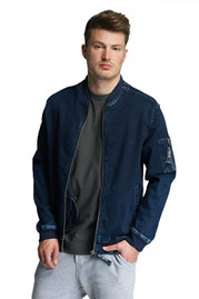 JUST RHYSE Lennox Jeans Jacket Blue at oboy.com