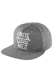 JUST RHYSE Fairhaven Snapback Cap Grey at oboy.com