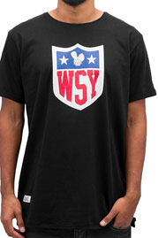 WHO SHOT YA  Collegebro T-Shirt Black at oboy.com