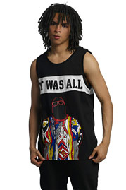 WHO SHOT YA  Biggie Tank Top Black at oboy.com