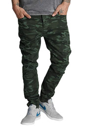 WHO SHOT YA  Genius Antifit Jeans Oliv Camouflage at oboy.com