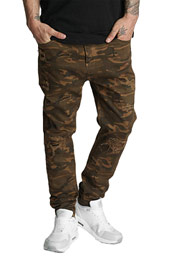 WHO SHOT YA  Genius Antifit Jeans Brown Camouflage at oboy.com