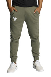 WHO SHOT YA  Woonun Xan Sweat Pants Olive at oboy.com
