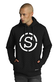 WHO SHOT YA  Quilted Hoody Black at oboy.com