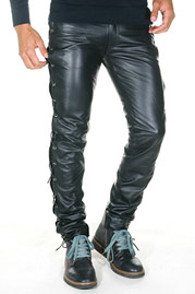 BOCKLE leather trousers at oboy.com