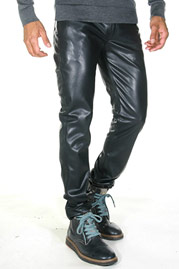 BOCKLE imitation leather trousers at oboy.com