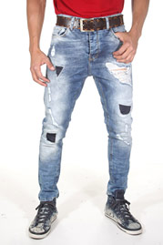 2Y Patchwork Jeans Black at oboy.com