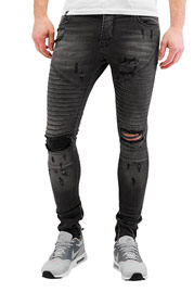 2Y Coimba Skinny Jeans Grey at oboy.com