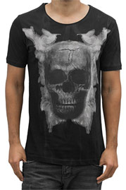 2Y Skull T-Shirt Black at oboy.com