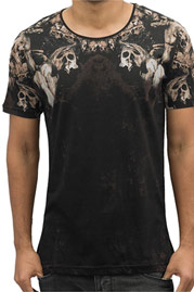 2Y Skulls T-Shirt Black at oboy.com