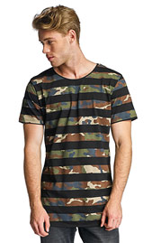 2Y Camo Stripes T-Shirt Black at oboy.com