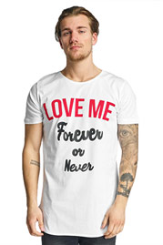 2Y Love Me T-Shirt White at oboy.com