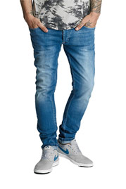 2Y Meerut Skinny Jeans Denim Blue at oboy.com
