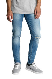 2Y Roop Skinny Jeans Denim Blue at oboy.com